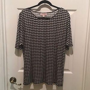 NWT Philosophy SS Shirt Black & White Sz XL